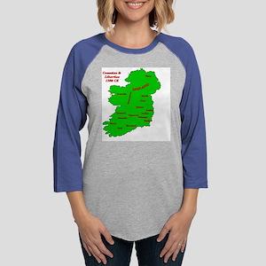 Map_Ireland_TShirt-1 Womens Baseball Tee