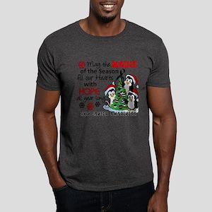 Holiday Penguins Skin Cancer Dark T-Shirt