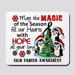 Holiday Penguins Skin Cancer Mousepad
