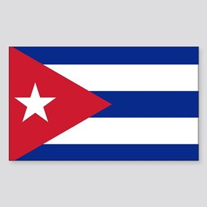 Flag of Cuba Sticker (Rectangle)