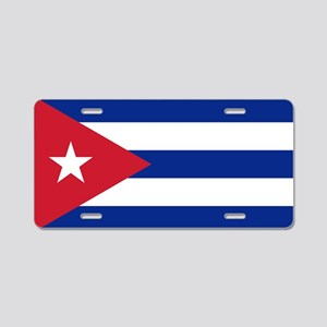 Flag of Cuba Aluminum License Plate