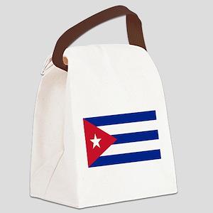 Flag of Cuba Canvas Lunch Bag