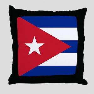 Flag of Cuba Throw Pillow