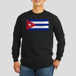 Flag of Cuba Long Sleeve Dark T-Shirt
