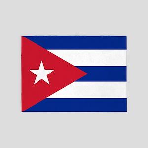 Flag of Cuba 5'x7'Area Rug