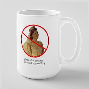 shut up about your wedding mug