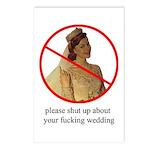 delightful anti-bride postcards