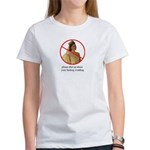 shut up about your wedding women's tee