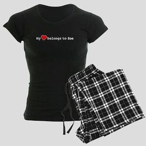 My Heart Belongs To Zoe Women's Dark Pajamas