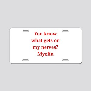 nerves Aluminum License Plate