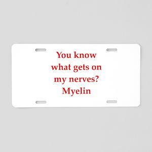 nerves Aluminum License Plate