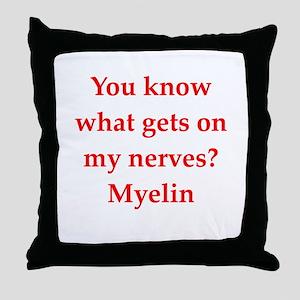 nerves Throw Pillow