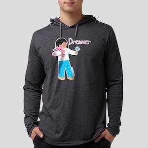 dreamer_10x10_blk Mens Hooded Shirt