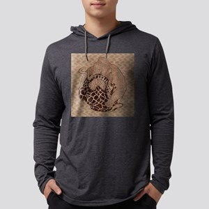 Woolly Giraffe Nap Full Mens Hooded Shirt