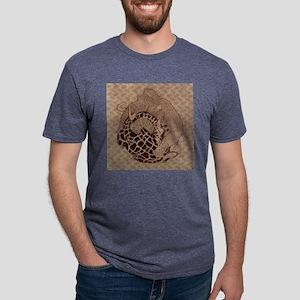 Woolly Giraffe Nap Full Mens Tri-blend T-Shirt