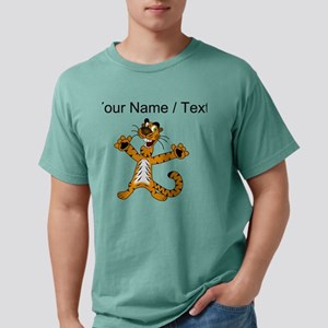 Custom Happy Tiger Mens Comfort Colors Shirt