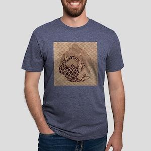 Woolly_Giraffe_Nap_Full_Bri Mens Tri-blend T-Shirt