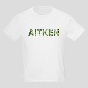 Aitken, Vintage Camo, Kids Light T-Shirt
