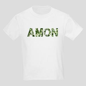 Amon, Vintage Camo, Kids Light T-Shirt