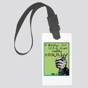 Design for Living Large Luggage Tag