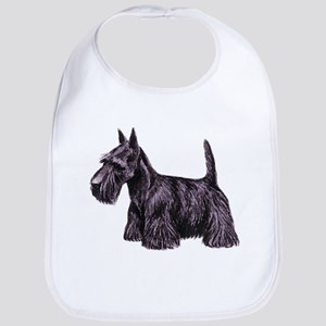 Scottish Terrier Cotton Baby Bib