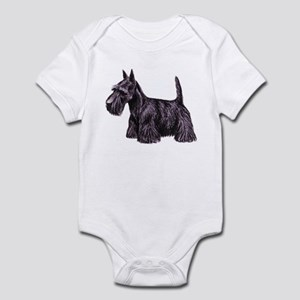 Scottish Terrier Baby Light Bodysuit