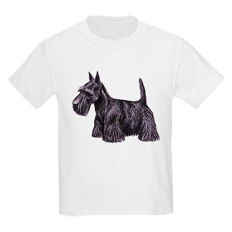 Scottish Terrier Kids Light T-Shirt