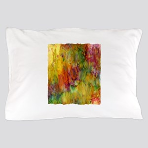tie dye colorful lion art illustration Pillow Case