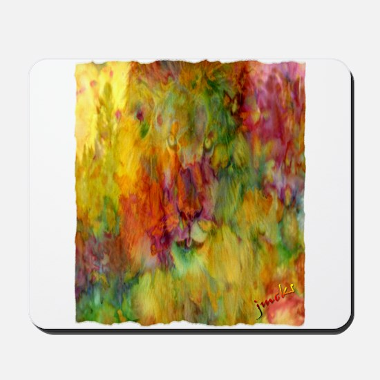 tie dye colorful lion art illustration Mousepad