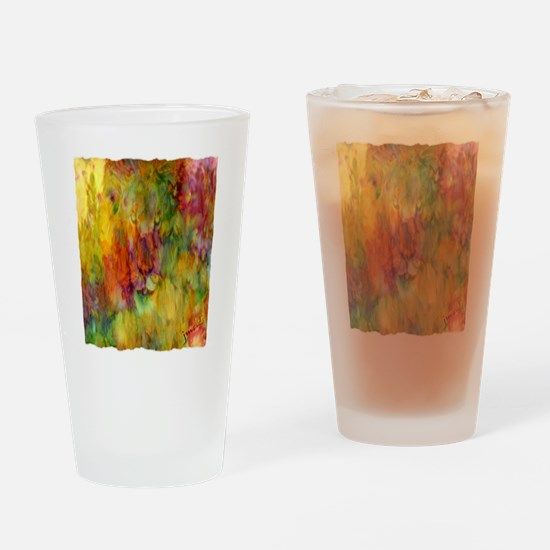 tie dye colorful lion art illustration Drinking Gl