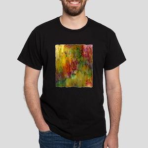 tie dye colorful lion art illustration Dark T-Shir