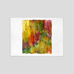 tie dye colorful lion art illustration 5'x7'Area R