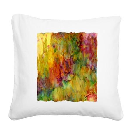 tie dye colorful lion art illustration Square Canv