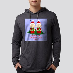 ChristmasStamp Mens Hooded Shirt