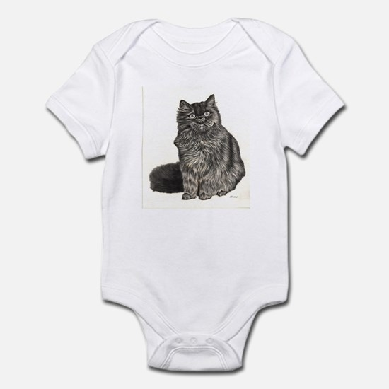 BLACK CAT (Front only) Infant Bodysuit