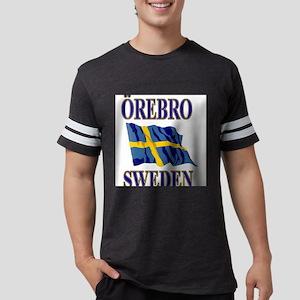 Orebro Sweden With Flag Mens Football Shirt