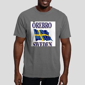Orebro Sweden With Flag Mens Comfort Colors Shirt