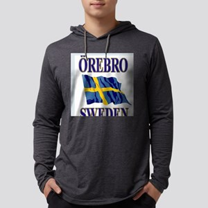 Orebro Sweden With Flag Mens Hooded Shirt