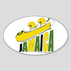 Jamaica Bobsled Oval Sticker