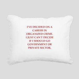organized crime Rectangular Canvas Pillow