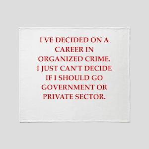 organized crime Throw Blanket