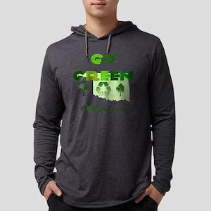 Go Green Oklahoma Mens Hooded Shirt