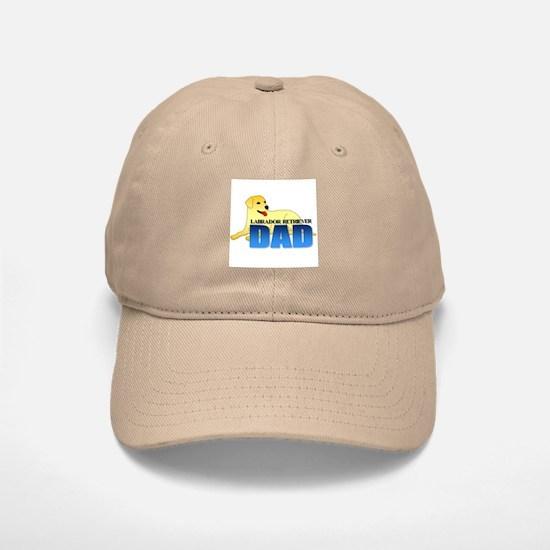Yellow Labrador Retriever Dad Baseball Baseball Cap