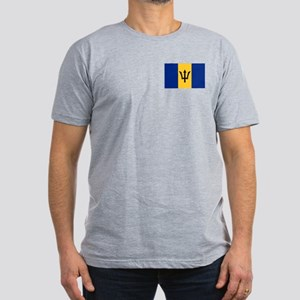 Flag of Barbados Men's Fitted T-Shirt (dark)