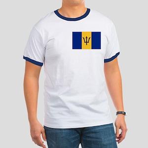 Flag of Barbados Ringer T