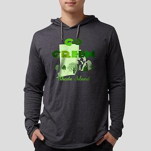 Go Green Rhode Island Mens Hooded Shirt