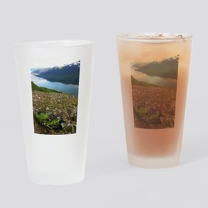Backpacking Alaska Mountains Drinking Glass