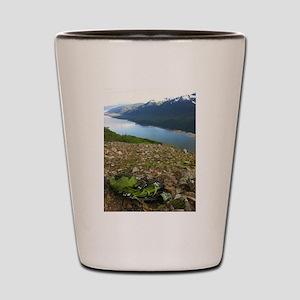 Backpacking Alaska Mountains Shot Glass