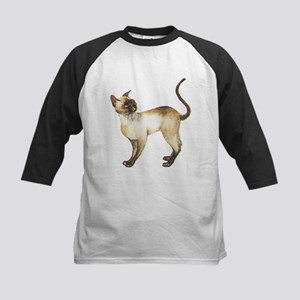 Siamese Cat (Front only) Kids Baseball Jersey