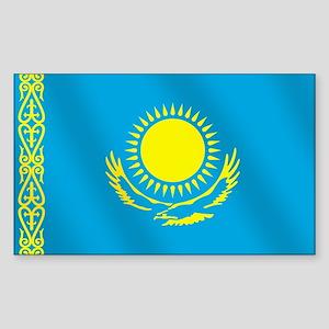 Flag of Kazakhstan Sticker (Rectangle)